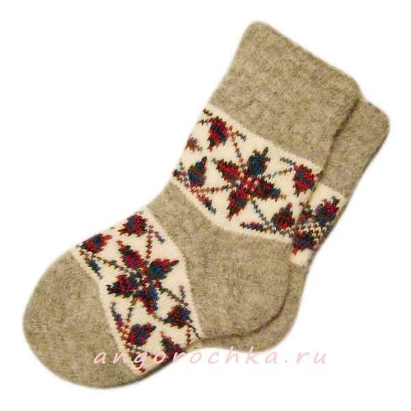 Вязанные носки подробно