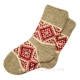 Вязаные носки с орнаментом