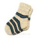 Детские вязаные носки в полоску.