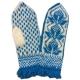 Вязаные варежки-джурабы голубые