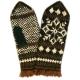 Варежки-джурабы со снежинкой