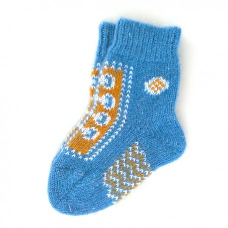 Синие детские шерстяные носки для маленьких футболистов