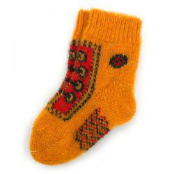 Оранжевые детские шерстяные носки для маленьких футболистов