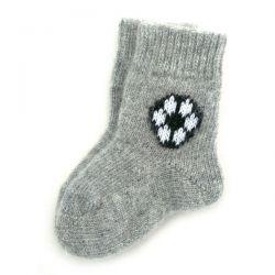 Теплые детские шерстяные носки с мячиком