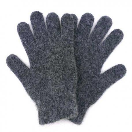 Темно-серые шерстяные перчатки