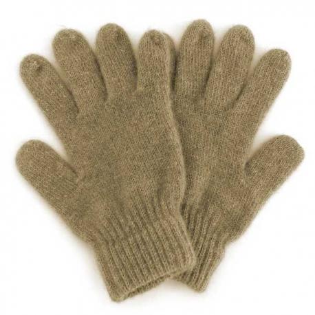 темно-бежевые шерстяные перчатки