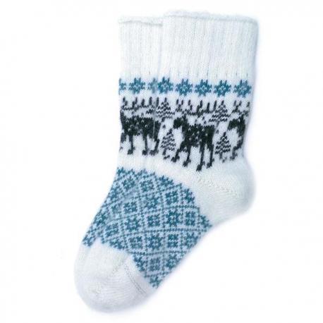 Шерстяные носки с лосями