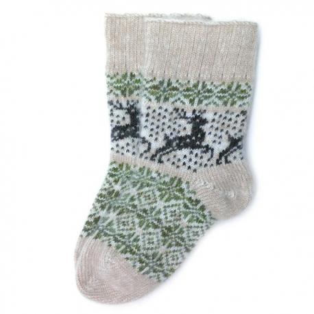 Шерстяные носки с оленями