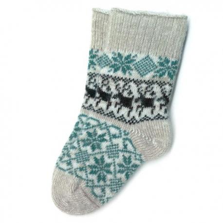 Женские шерстяные носки с норвежским орнаментом