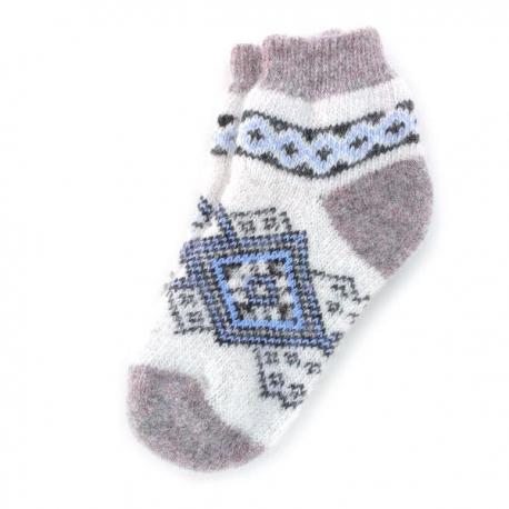 Короткие женские шерстяные носки с орнаментом