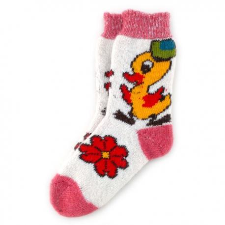 Женские шерстяные носки с утенком