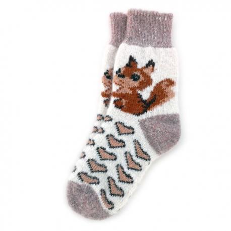 Женские шерстяные носки с белочкой