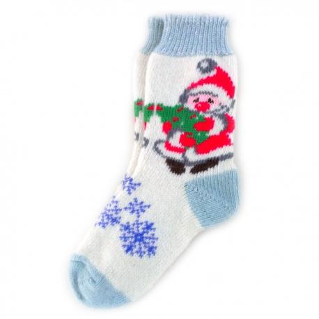 Женские шерстяные носки с Дедом Морозом