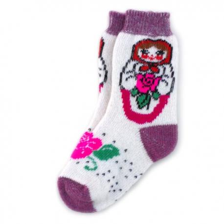 Женские шерстяные носки с матрешкой