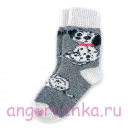 Женские шерстяные носки со щенком