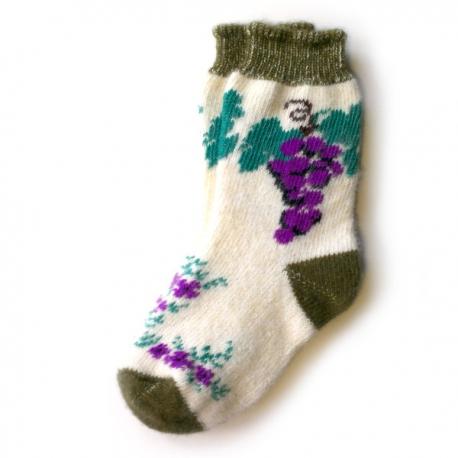 Женские шерстяные носки с виноградом
