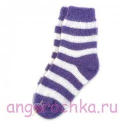 Женские шерстяные носки в фиолетовую полоску