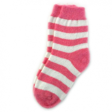 Женские шерстяные носки в полоску