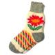 Женские вязаные носки с ромашкой