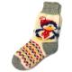 Женские вязаные носки с пингвином