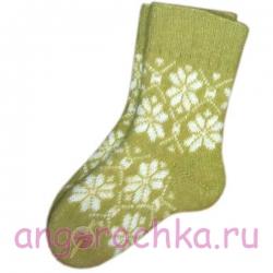 Женские шерстяные носки горчичного цвета