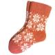 Женские шерстяные носки терракотовые со снежинками
