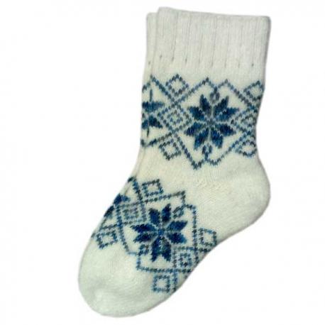 Женские теплые носки с узором снежинки