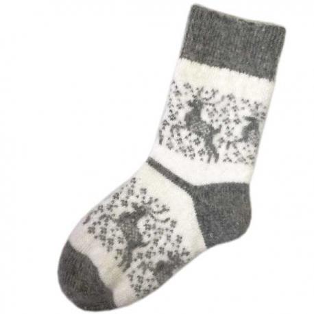 Женские шерстяные носки со снежными оленями