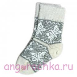 Женские шерстяные носки с бабочками