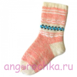 Женские шерстяные носки нежно-розового цвета