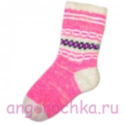 Женские шерстяные носки розового цвета