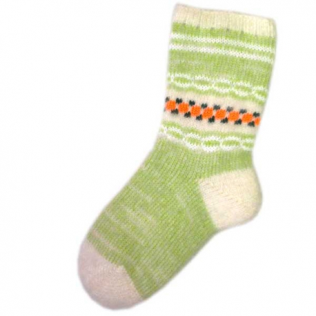 Женские шерстяные носки зеленого цвета