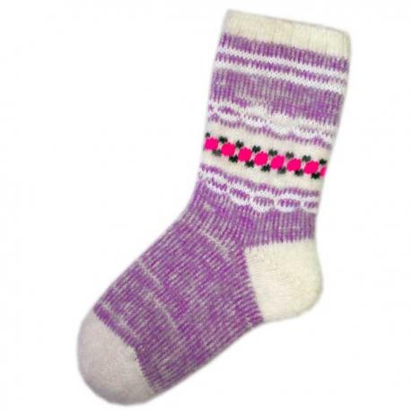 Женские шерстяные носки сиреневого цвета