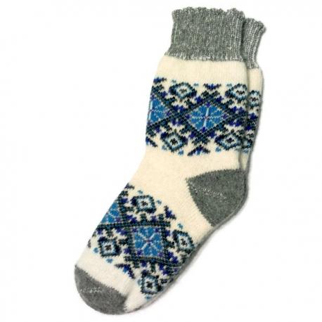 Женские зимние носки  с финским узором