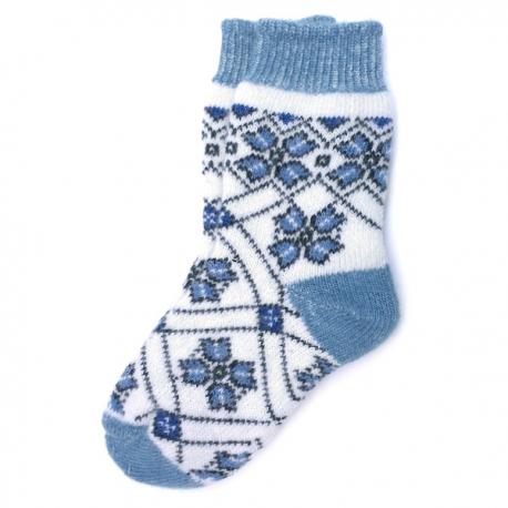 Женские зимние носки с цветочным орнаментом