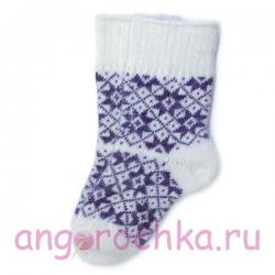 Вязаные шерстяные носки с оригинальным орнаментом