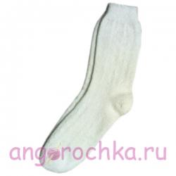 Белые мужские шерстяные носки
