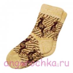 Мужские вязаные шерстяные носки с оленями