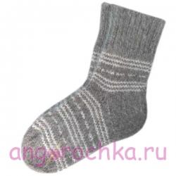 Мужские шерстяные носки ручной вязки