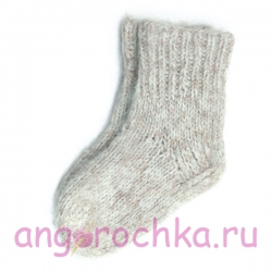 Детские вязаные носки ручной работы