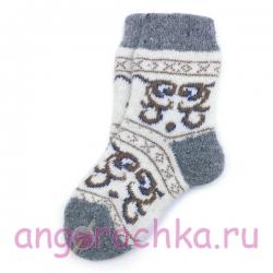 Детские безразмерные шерстяные носочки с рисунком