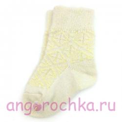 Детские шерстяные носки с желтым орнаментом