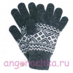 Мужские шерстяные перчатки с орнаментом