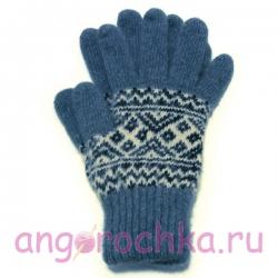 Мужские вязаные шерстяные перчатки