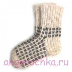 Женские  шерстяные носки ручной работы
