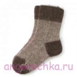 Мужские теплые шерстяные носки в коричневых тонах