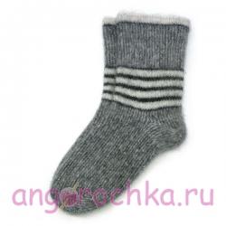 Мужские теплые шерстяные носки с полосками