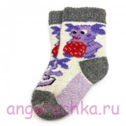 Детские безразмерные шерстяные носки с Лунтиком