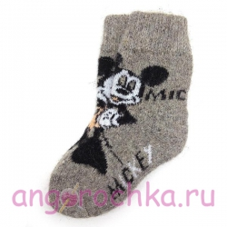 Детские безразмерные шерстяные носки с Микки