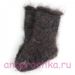 Детские пуховые носочки-полугольфы